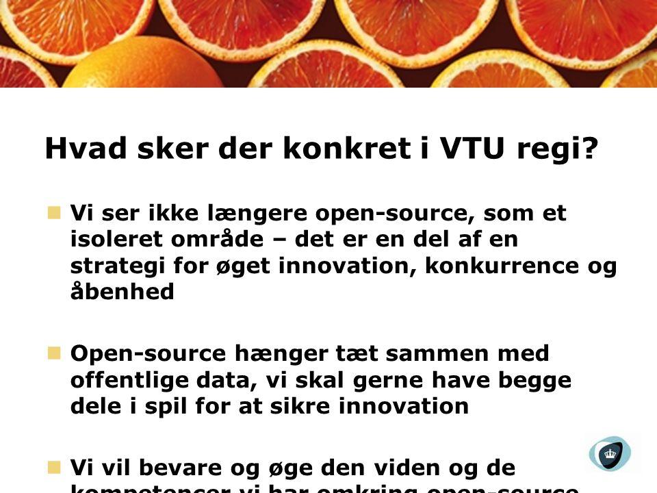Hvad sker der konkret i VTU regi.
