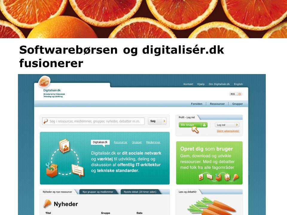 Softwarebørsen og digitalisér.dk fusionerer