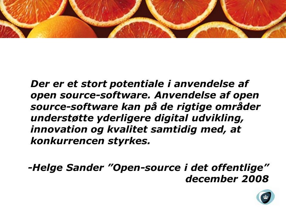 Der er et stort potentiale i anvendelse af open source-software.