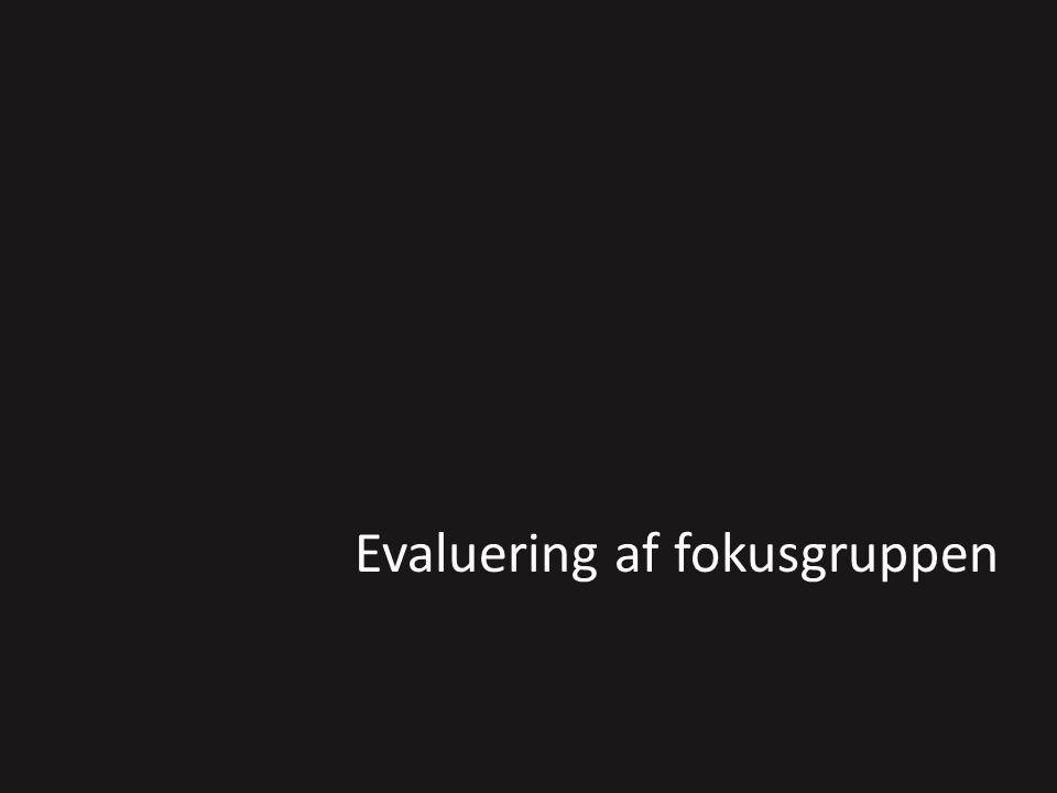 Evaluering af fokusgruppen