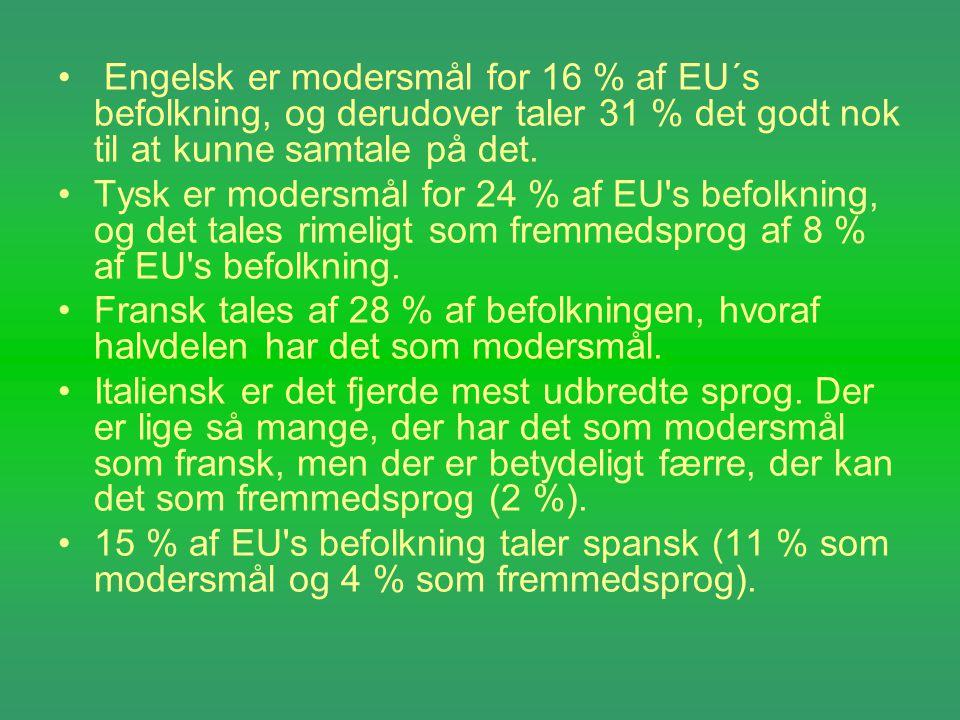 officielle sprog eu