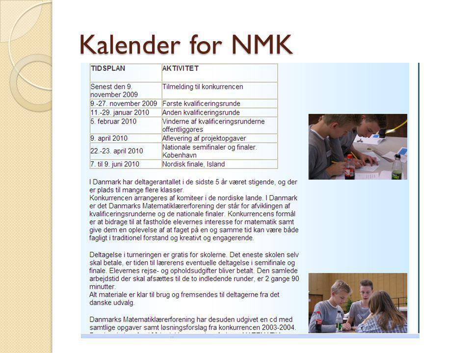Kalender for NMK