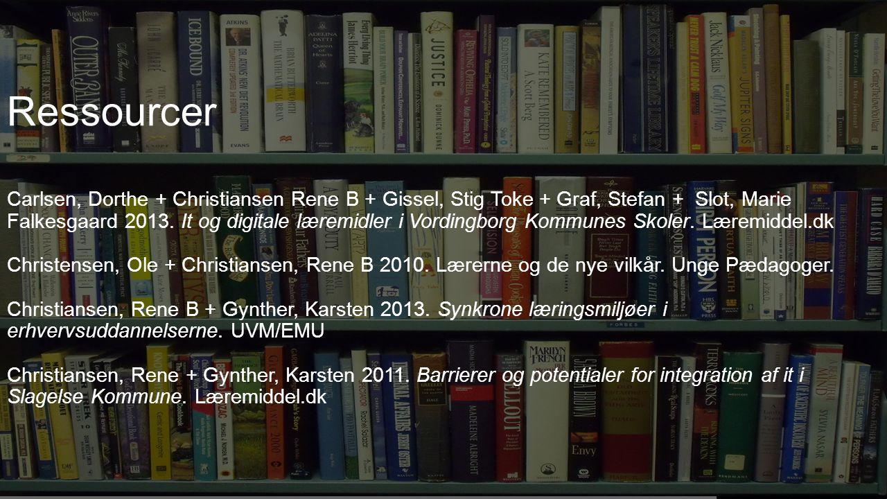 XXXX Ressourcer Carlsen, Dorthe + Christiansen Rene B + Gissel, Stig Toke + Graf, Stefan + Slot, Marie Falkesgaard 2013.