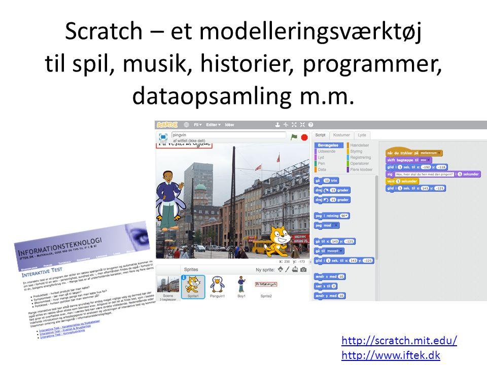 Scratch – et modelleringsværktøj til spil, musik, historier, programmer, dataopsamling m.m.