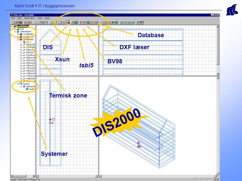 Termisk zone Database tsbi5 Xsun BV98 DXF læserDIS DIS2000 Systemer