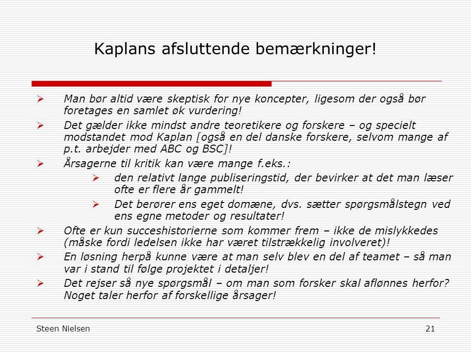 Steen Nielsen21 Kaplans afsluttende bemærkninger.