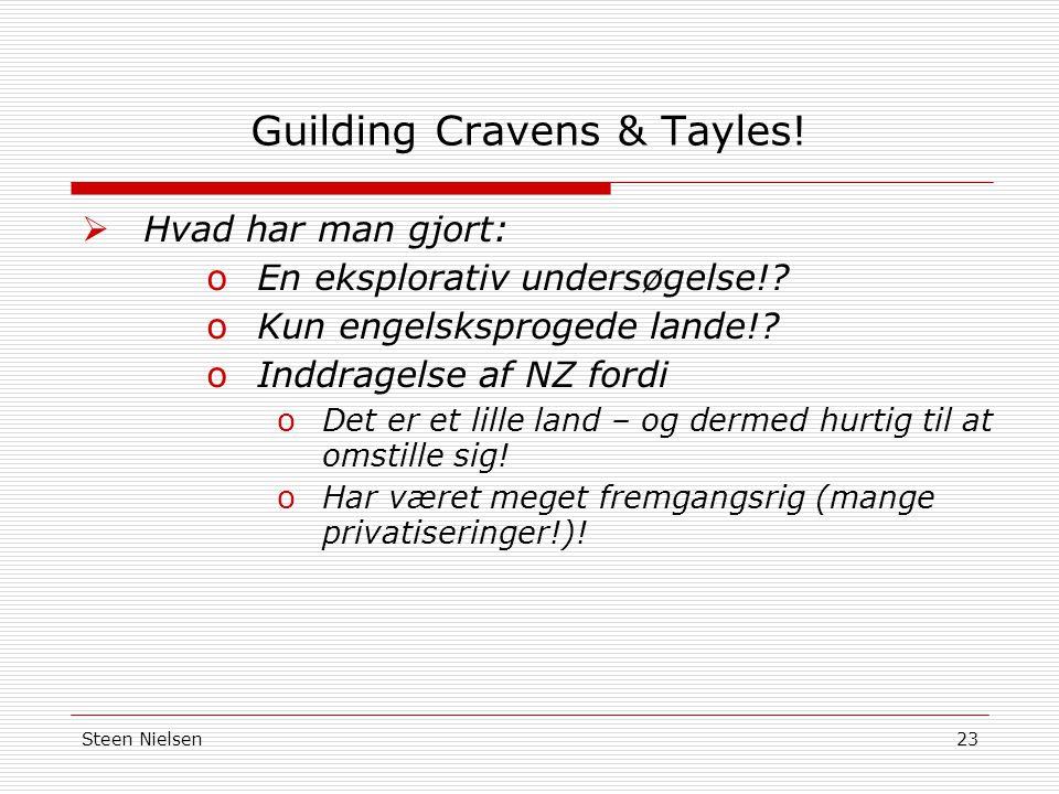 Steen Nielsen23 Guilding Cravens & Tayles.  Hvad har man gjort: oEn eksplorativ undersøgelse!.