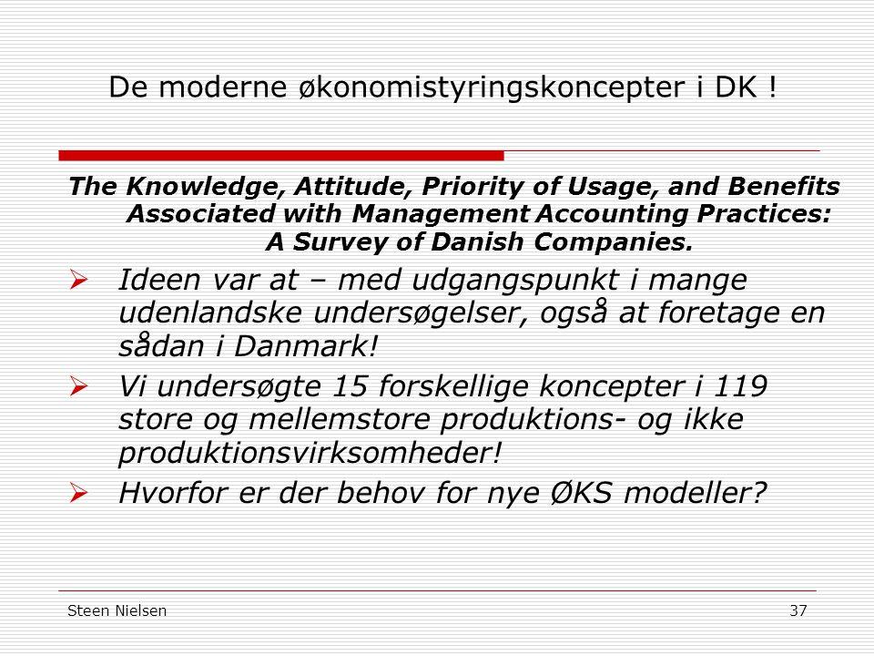 Steen Nielsen37 De moderne økonomistyringskoncepter i DK .