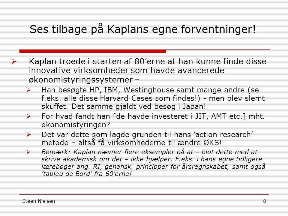 Steen Nielsen8 Ses tilbage på Kaplans egne forventninger.