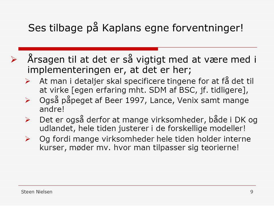 Steen Nielsen9 Ses tilbage på Kaplans egne forventninger.