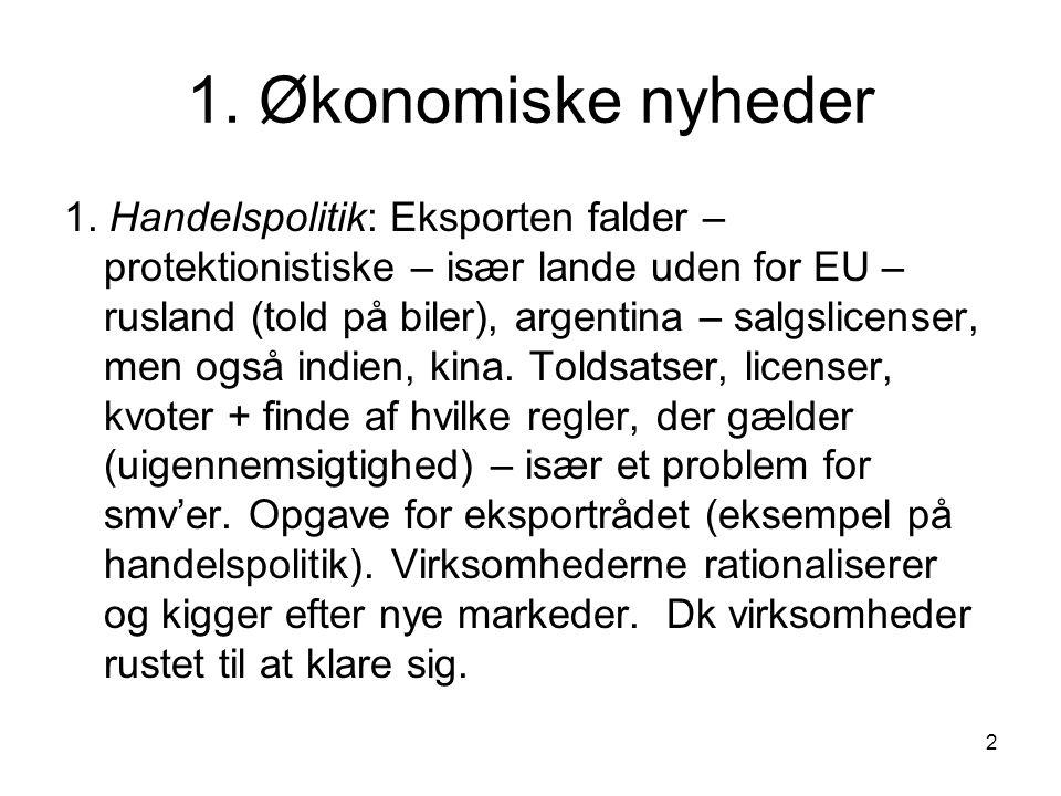 2 1. Økonomiske nyheder 1.