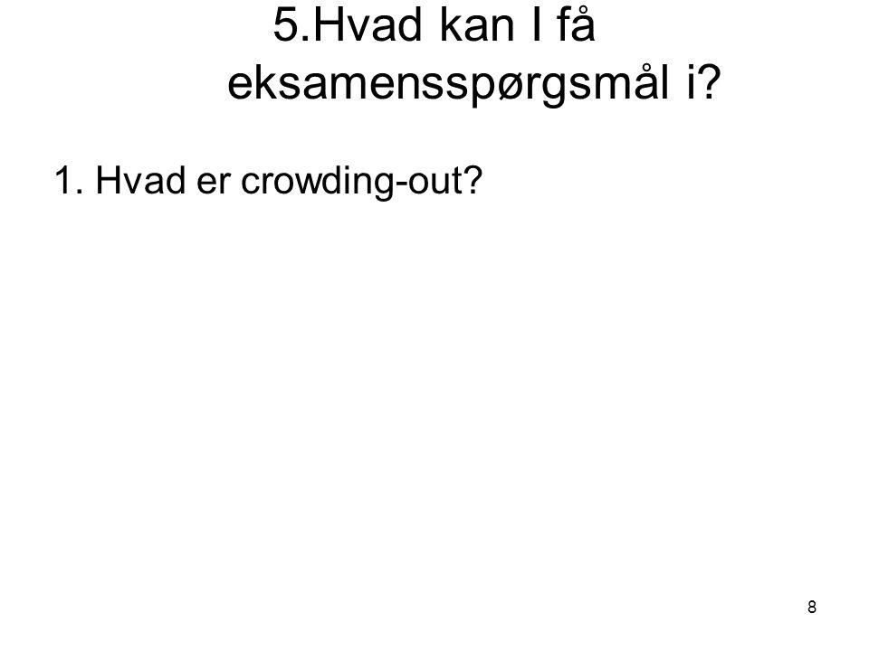 8 5.Hvad kan I få eksamensspørgsmål i 1. Hvad er crowding-out
