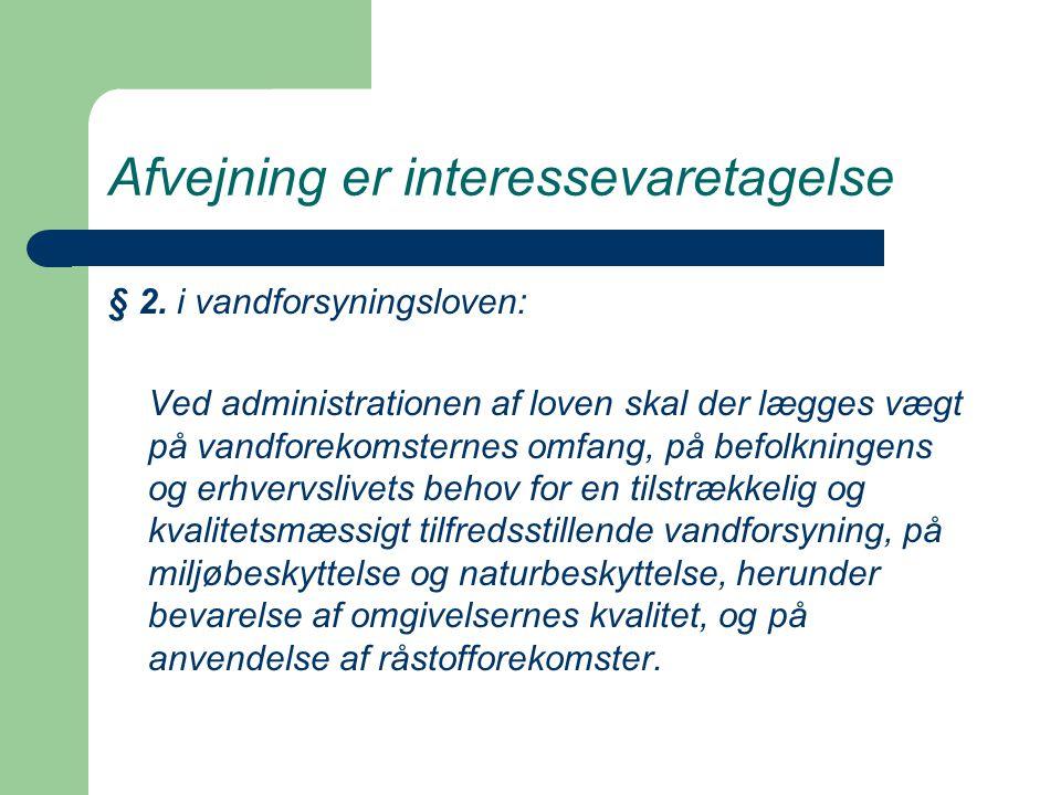Afvejning er interessevaretagelse § 2.