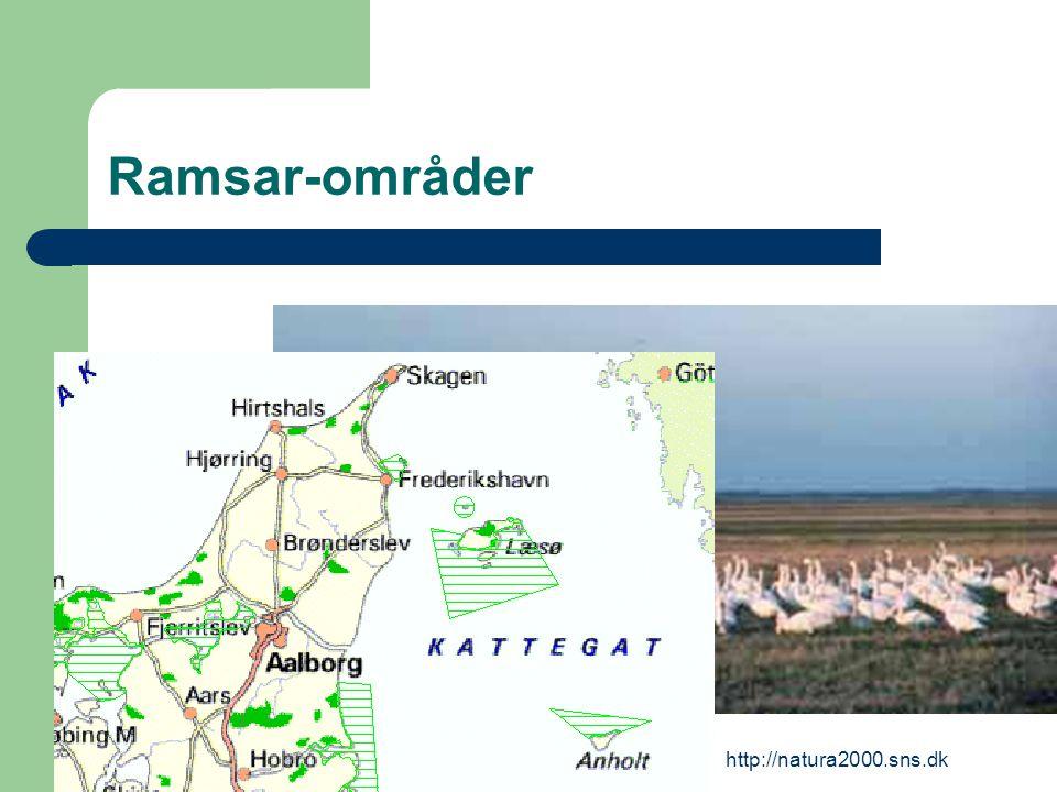 http://natura2000.sns.dk Ramsar-områder