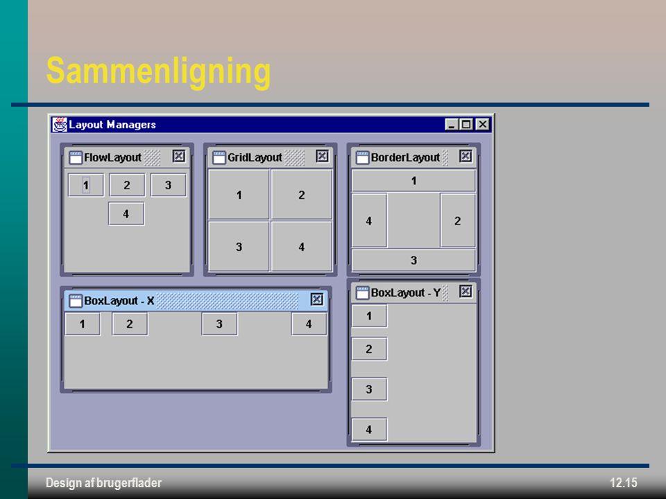 Design af brugerflader12.15 Sammenligning
