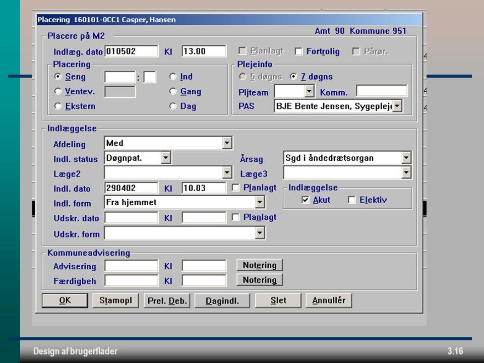 Design af brugerflader3.16