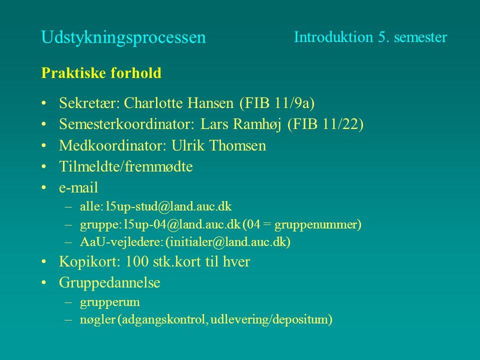 Praktiske forhold Projektforløbet –kortlægning (Jens Juhl) –ejendomsændringer (Lars Ramhøj) Geodata (Esben Clemens) Vore erfaringer fra sidste år (7.