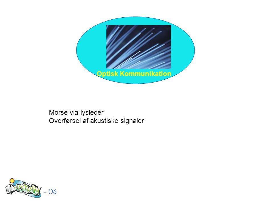Optisk Kommunikation - 06 Morse via lysleder Overførsel af akustiske signaler
