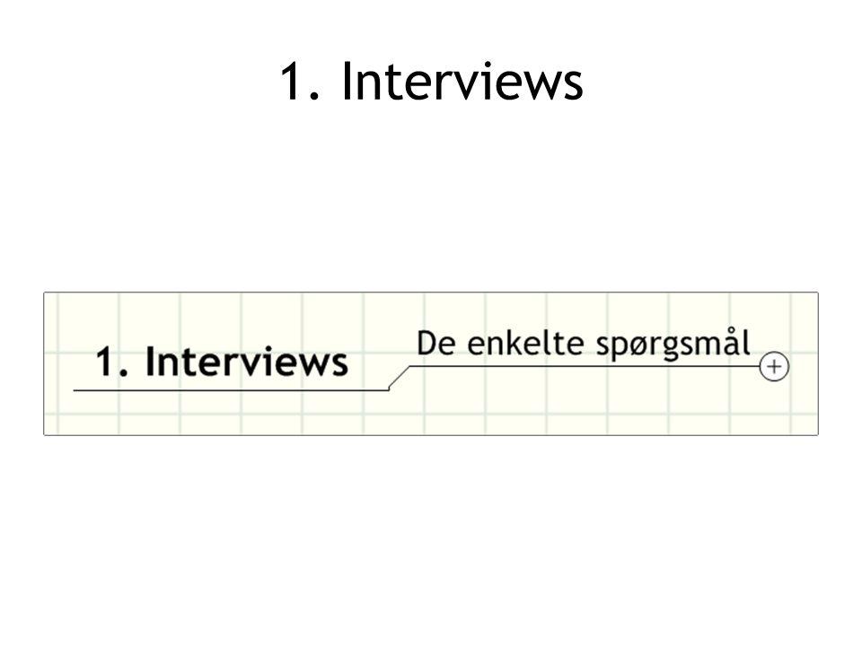 1. Interviews