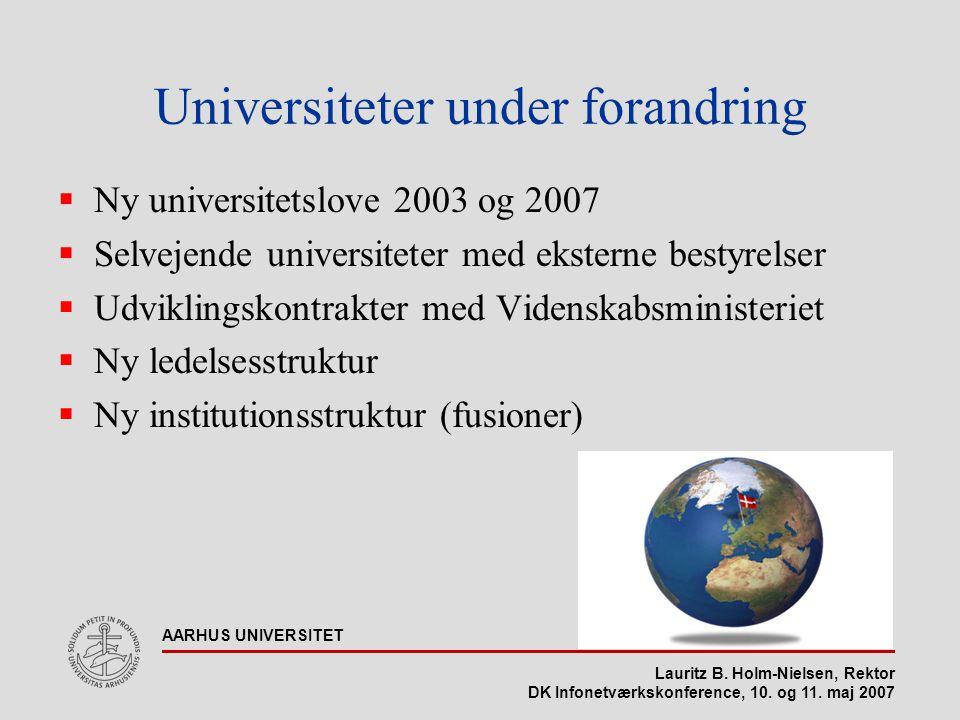 Lauritz B. Holm-Nielsen, Rektor DK Infonetværkskonference, 10.
