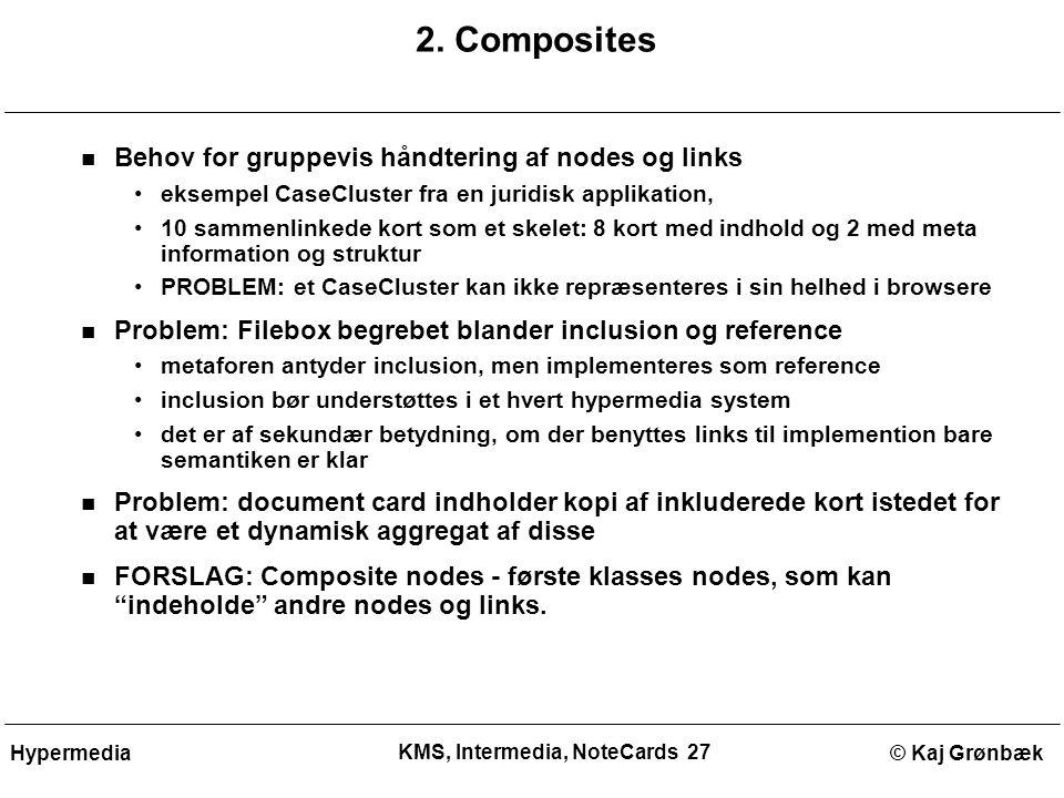 KMS, Intermedia, NoteCards 27 © Kaj GrønbækHypermedia 2.
