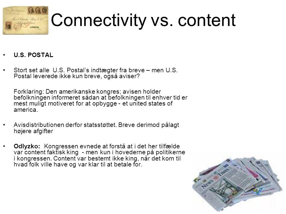 U.S. POSTAL Stort set alle U.S. Postal's indtægter fra breve – men U.S.