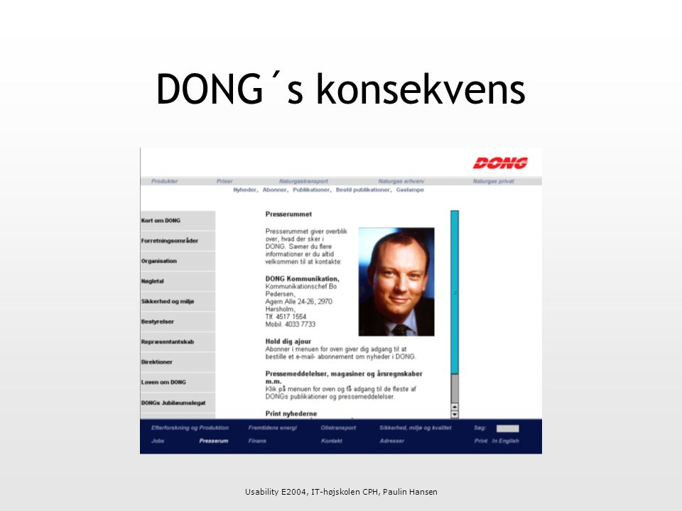DONG´s konsekvens