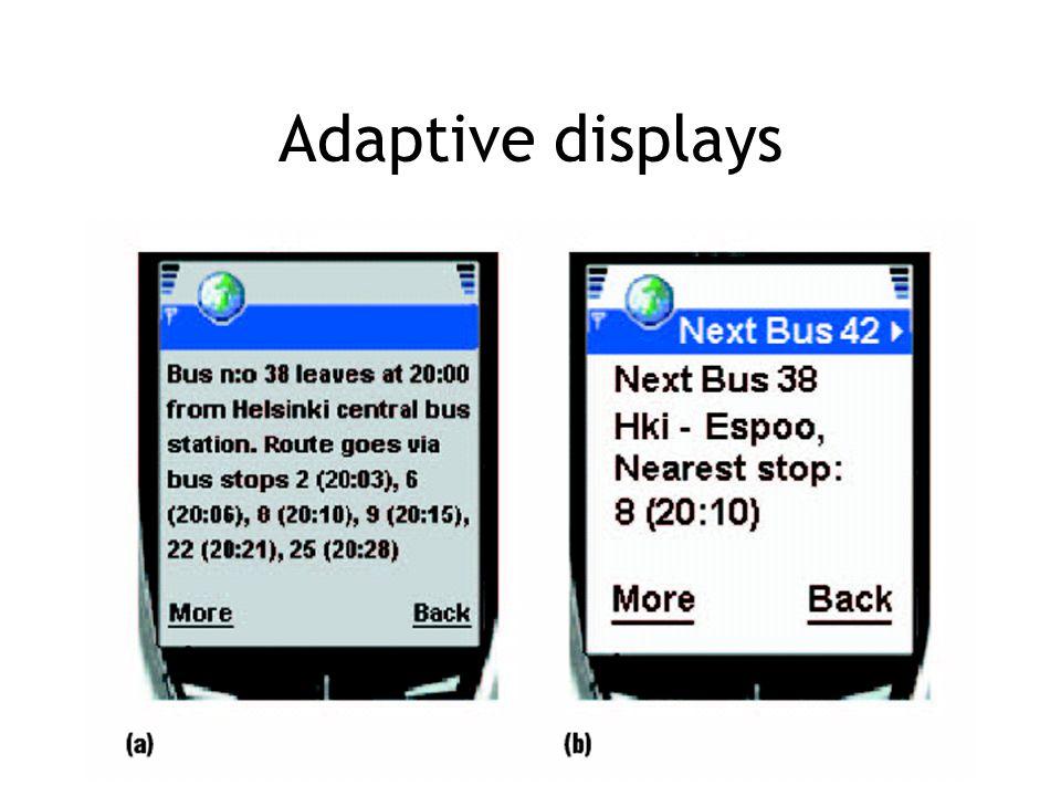 Adaptive displays