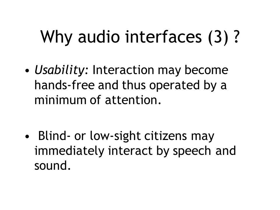 Why audio interfaces (3) .