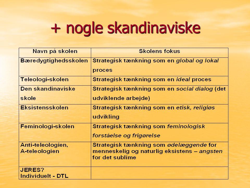 + nogle skandinaviske