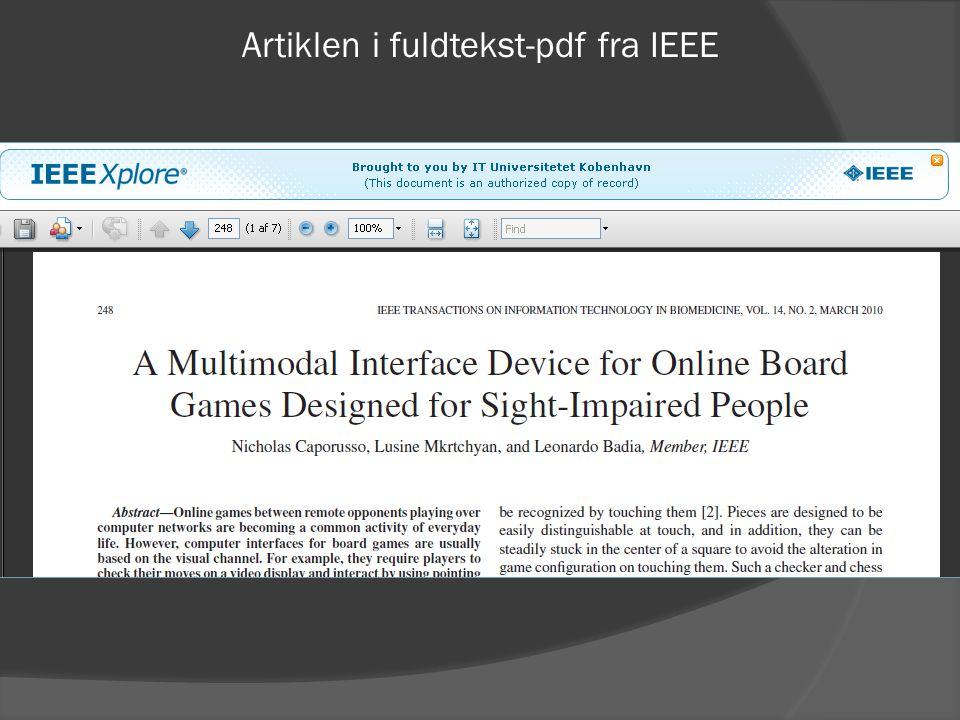 Artiklen i fuldtekst-pdf fra IEEE