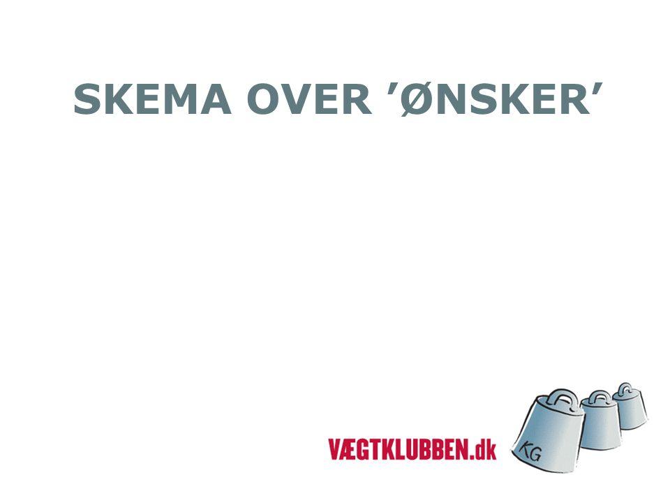 SKEMA OVER 'ØNSKER'