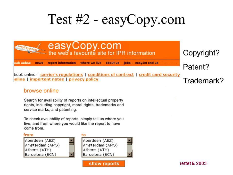 Tekstformidling på Internettet E 2003 Test #2 - easyCopy.com Copyright Patent Trademark