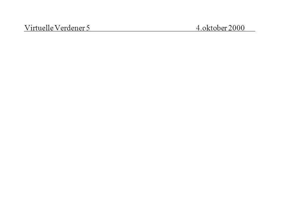 Virtuelle Verdener 54.oktober 2000