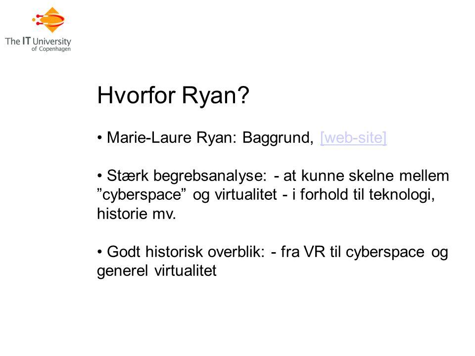 Hvorfor Ryan.