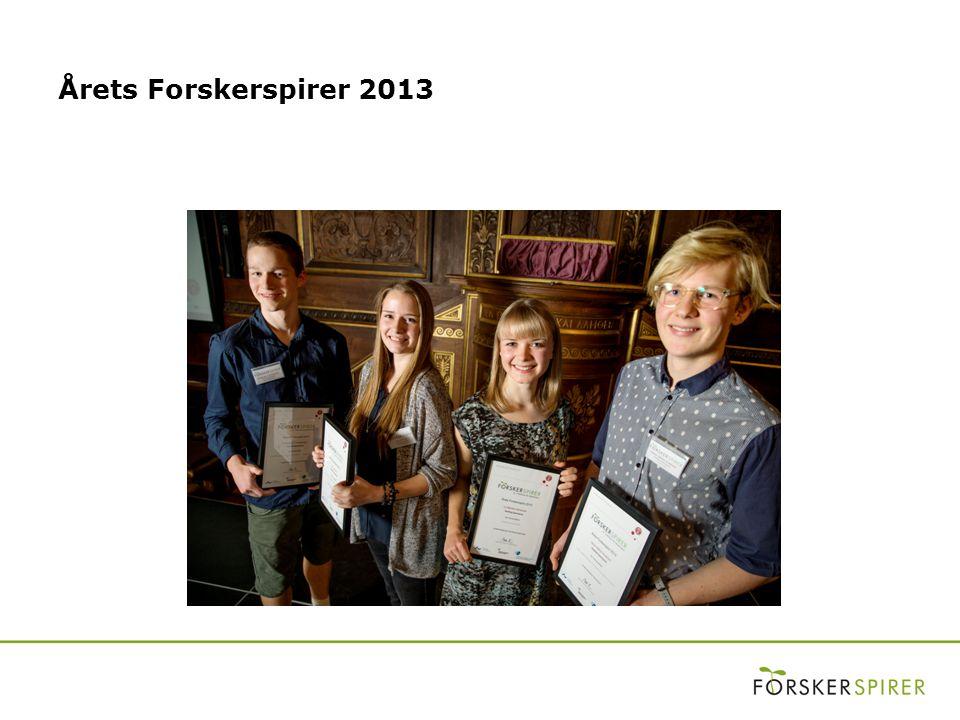 Årets Forskerspirer 2013