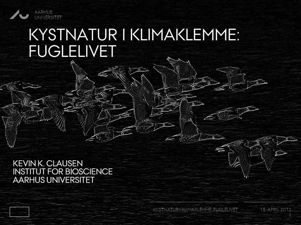 AARHUS UNIVERSITET KYSTNATUR I KLIMAKLEMME: FUGLELIVET 15.