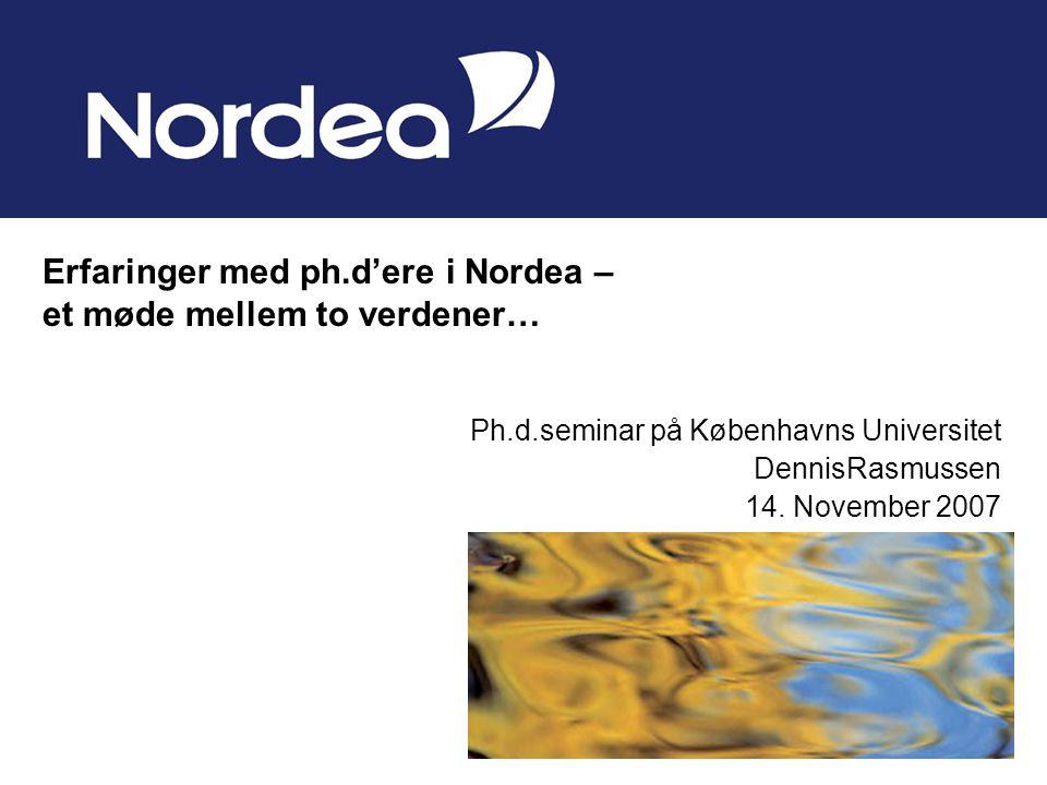 Ph.d.seminar på Københavns Universitet DennisRasmussen 14.