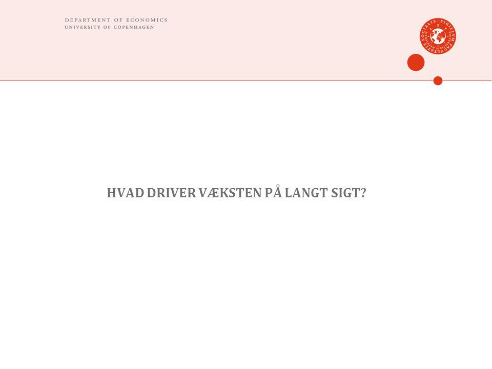 HVAD DRIVER VÆKSTEN PÅ LANGT SIGT