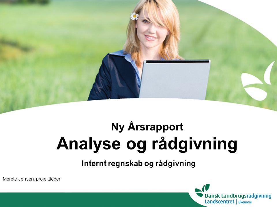 Ny Årsrapport Analyse og rådgivning Internt regnskab og rådgivning Merete Jensen, projektleder