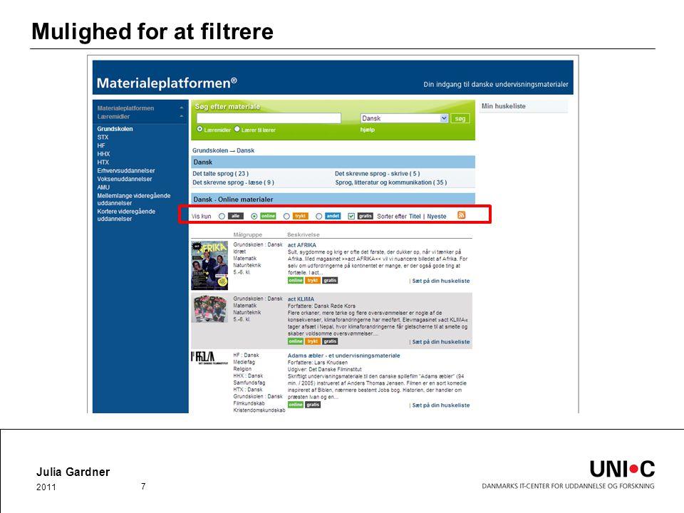 Mulighed for at filtrere Julia Gardner 2011 7