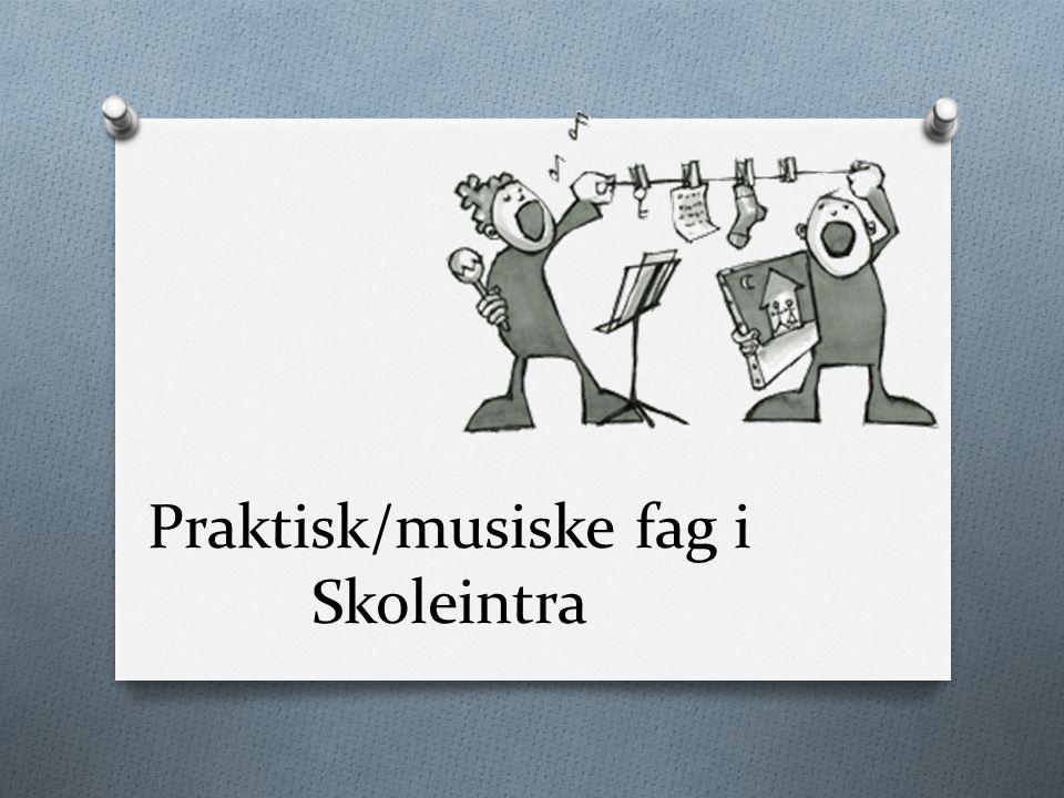 Praktisk/musiske fag i Skoleintra