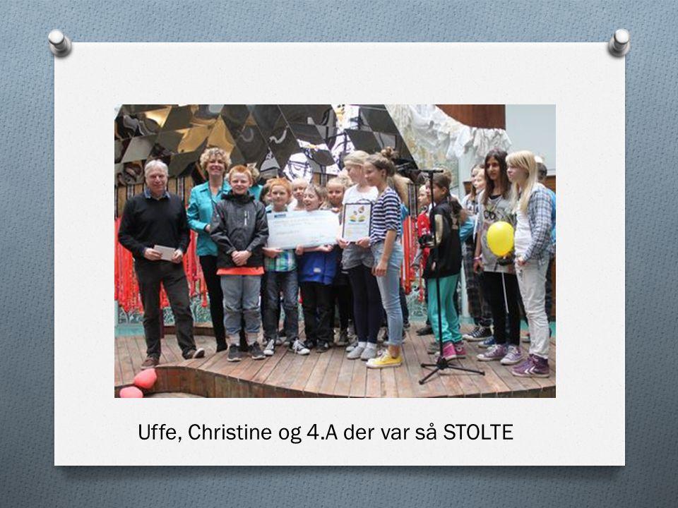 Uffe, Christine og 4.A der var så STOLTE