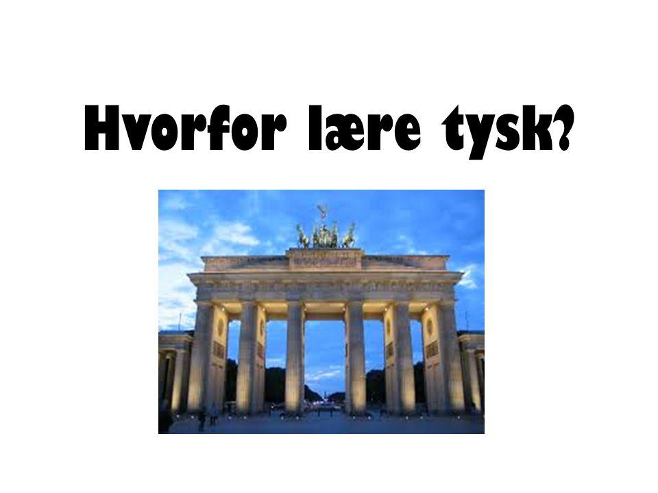 Hvorfor lære tysk