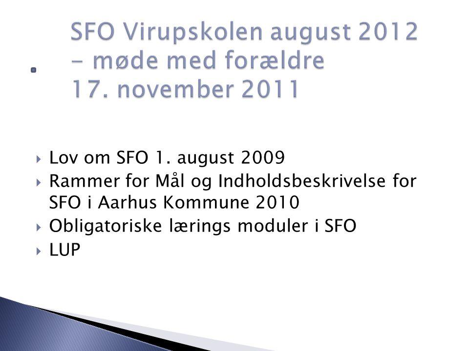  Lov om SFO 1.