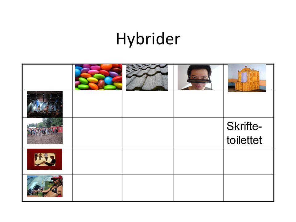 Hybrider Skrifte- toilettet