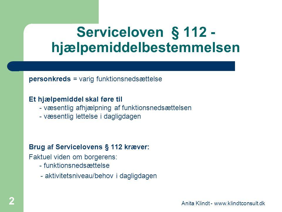 Bevilling af hjælpemidler serviceloven