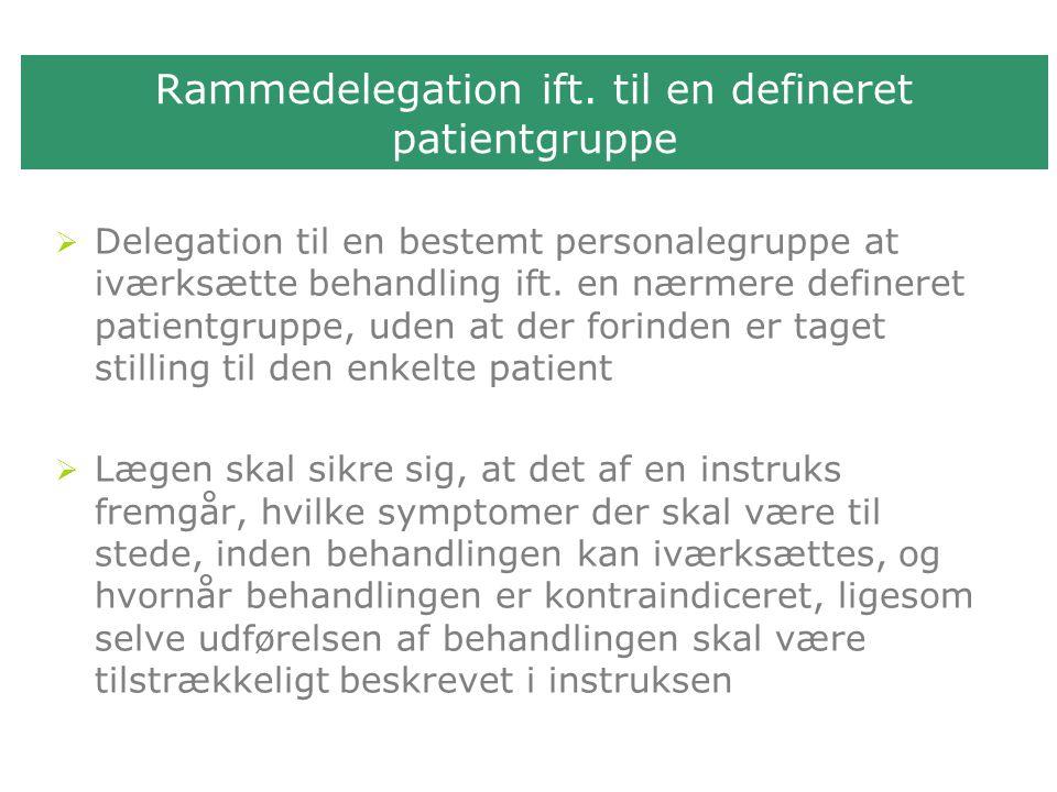 Rammedelegation ift.