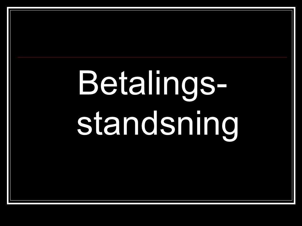 Betalings- standsning