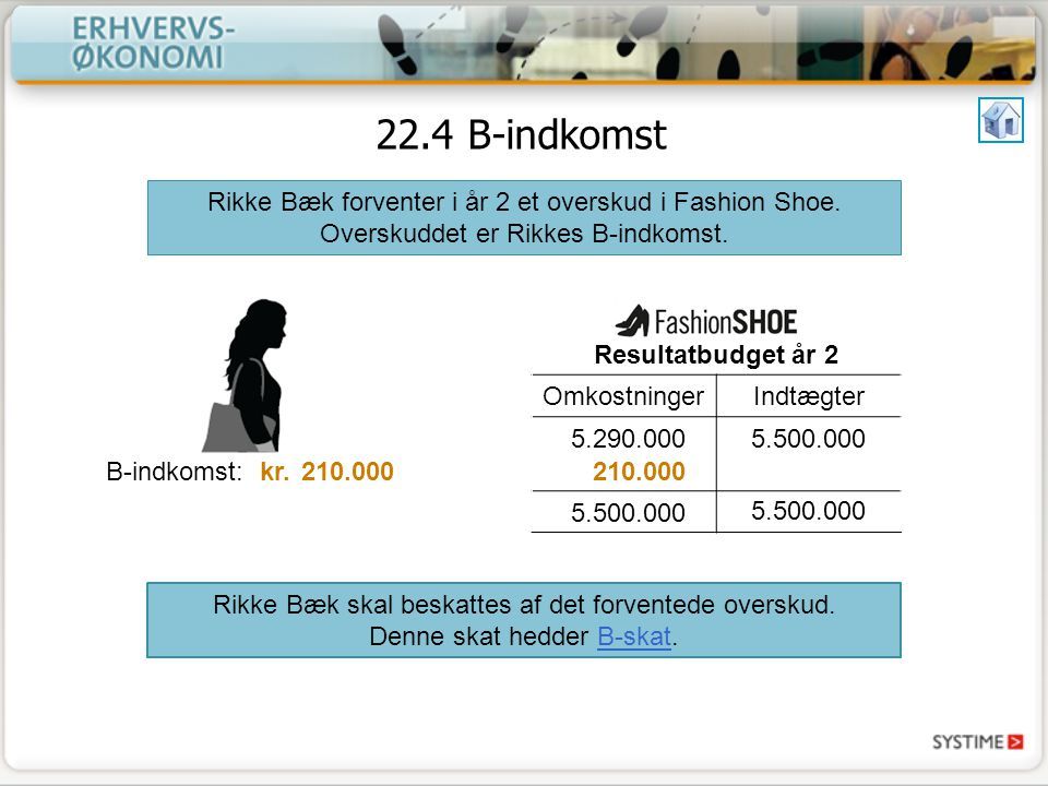 Rikke Bæk skal beskattes af det forventede overskud.